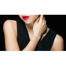 Liberty Prong Diamond Bracelet 18K White Gold