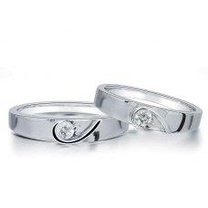 Maclin Diamond Wedding Ring 18K White Gold(Pair)