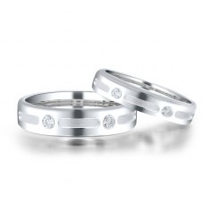 Frontia Diamond Wedding Ring 18K White Gold(Pair)