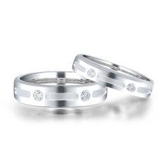 Frontia Diamond Wedding Ring 18K White Gold(Pair)