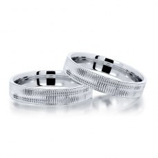 Kerrisane Blissful Wedding Ring 18K White Gold(Pair)