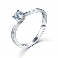 Engagement ring with 18k classic setting (9094)