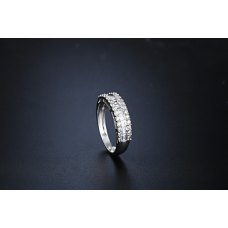 Half Rec Eternity Ring