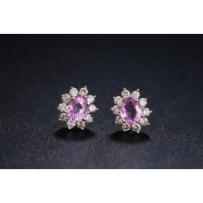 Purplite Diamond Earring