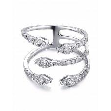 Talon Channel Diamond Ring 18K White Gold