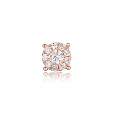 Charm Cluster Diamond Earring 18K Rose Gold