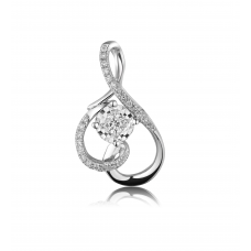 Phanta Diamond Pendant 18K White Gold