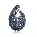 Swan Sapphire Diamond Earring 18K Black Gold