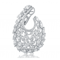 Heavenly Swan Diamond Earring 18k White Gold