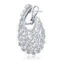 Heavenly Swan Diamond Earring 18k White Gold