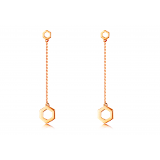 Min Seo Stud Earring 14K Rose Gold