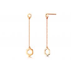 Min Seo Stud Earring 14K Rose Gold