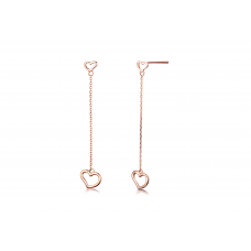 Ha Eun Stud Earrinig 14K Rose Gold