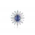 Ritz Sapphire Diamond Earring 18K White Gold