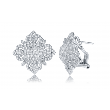 Auden Prong Diamond Earring 18K White Gold