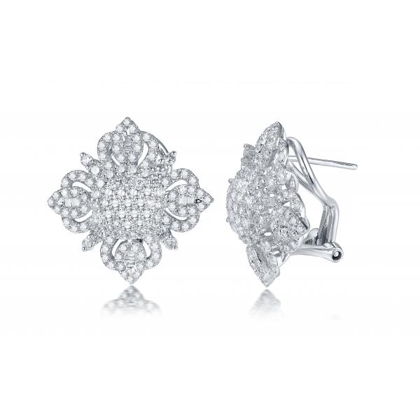 Auden Prong Diamond Earring 18K White Gold