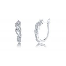 Arthur Prong Diamond Earring 18K White Gold