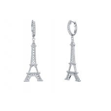 Skyler Prong Diamond Earring 18K White Gold