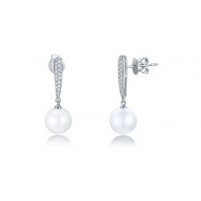 Cooper Pearl Diamond Earring 18K White Gold