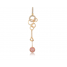 Lyle Pink Sapphire Diamond Earring 18K Rose Gold