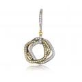 Ira Yellow Sapphire Diamond Earring 18K White Gold