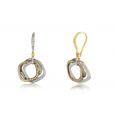 Ira Yellow Sapphire Diamond Earring 18K White Gold