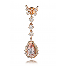Blaire Morganite Diamond Earring 18K Rose Gold