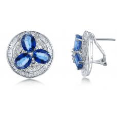 Trios Kyanite Diamond Earring 18K White Gold