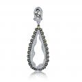 Owen Prong Diamond Earring 18K White and Black Gold