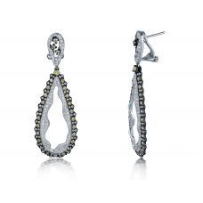 Owen Prong Diamond Earring 18K White and Black Gold