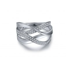 Cortez Prong Diamond Ring 18K White Gold