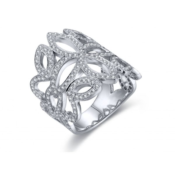 Conway Prong Diamond Ring 18K White Gold