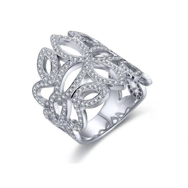 Conway Prong Diamond Ring 18K White Gold