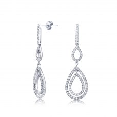Goteo Diamond Earring 18K White Gold