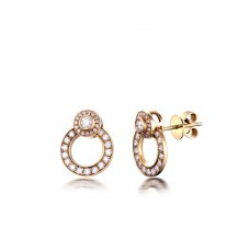 Cerchio Diamond Earring 18K White Gold