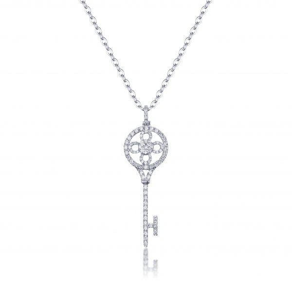 Laiyan Diamond Pendant 18K White Gold