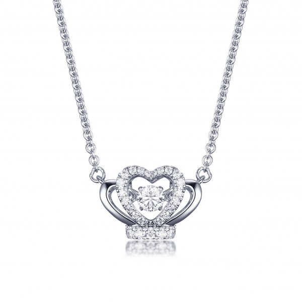 Rinley Diamond Necklace 18K White Gold