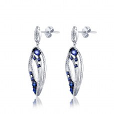Mare Diamond Earring 18K White and Black Gold