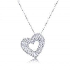 Lorelai Diamond Pendent 18K White Gold