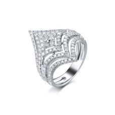 Kinsley Diamond Ring 18K White Gold