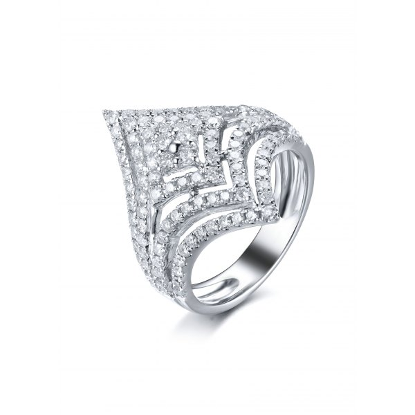 Kinsley Diamond Ring 18K White Gold