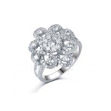 Leben Diamond Ring 18K White Gold