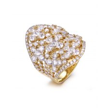 Petalo Diamond Ring 18K Yellow Gold