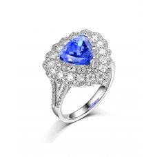 Lyalia Tanzanite Diamond Ring 18K White Gold