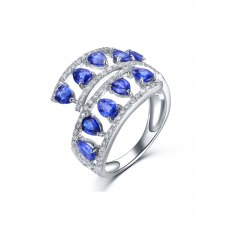 Reena Kyanite Diamond Ring 18K White Gold