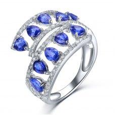 Reena Kyanite Diamond Ring 18K White Gold