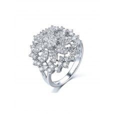 Dolce Diamond Ring 18K White Gold