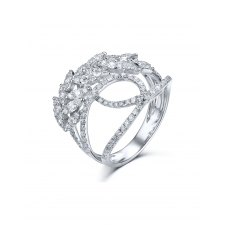 Rosamie Diamond Ring 18K White Gold