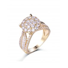 Gettone Diamond Ring 18K White Gold
