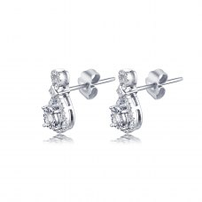Prisley Diamond Earring 18K White Gold